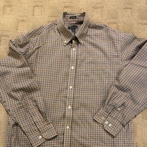 Van Heusen Men's No Iron Button Down, Size Large
